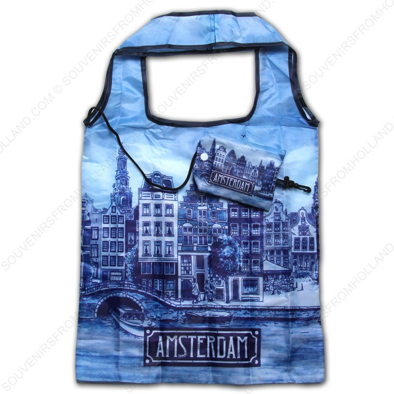 Delft Blue Amsterdam- Shopping Bag 40cm