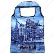 Delfts Blauw Amsterdam - Boodschappentas 40cm