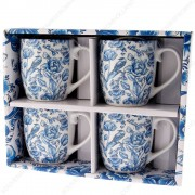 Set of 4 mugs Delft Blue...
