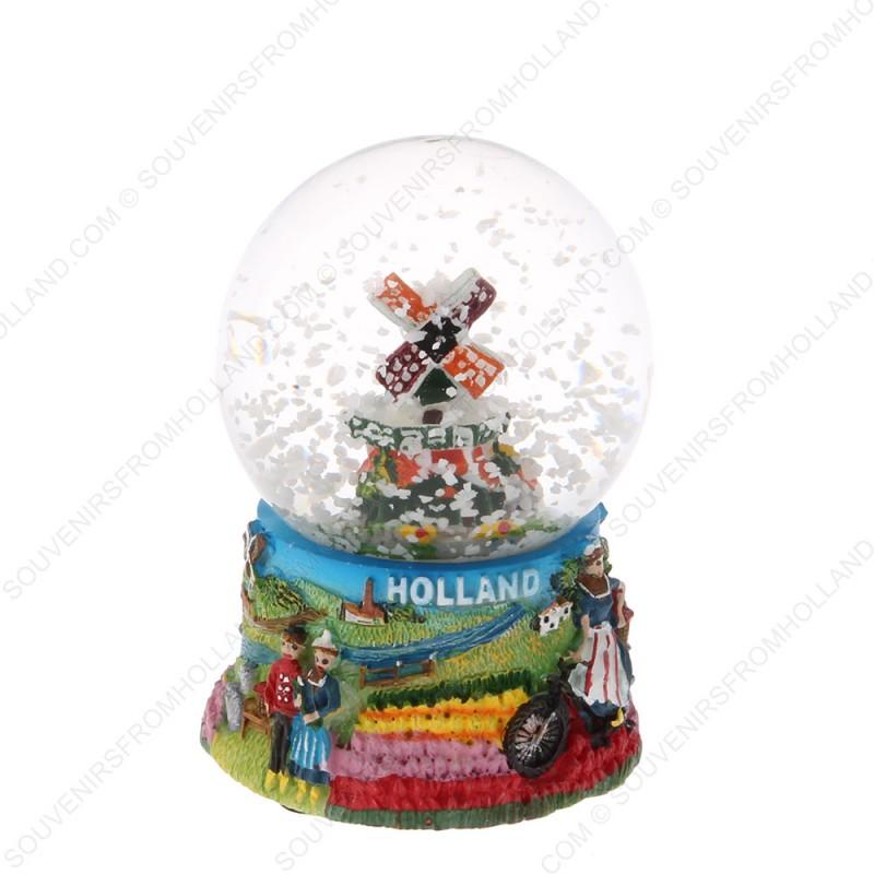 Holland Windmill Bicycle - Snow Globe 6.5 cm