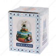 Holland Molen Fiets - Sneeuwbol 6.5cm