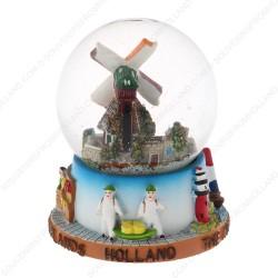 Holland Molen Koe - Sneeuwbol 9cm