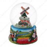 Holland Molen Fiets - Sneeuwbol 9cm