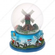 Holland Windmills - Snow Globe 9cm
