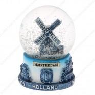 Amsterdam Delft Blue - Snow Globe 9cm