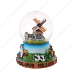 Holland Molen Koe - Sneeuwbol 6.5cm