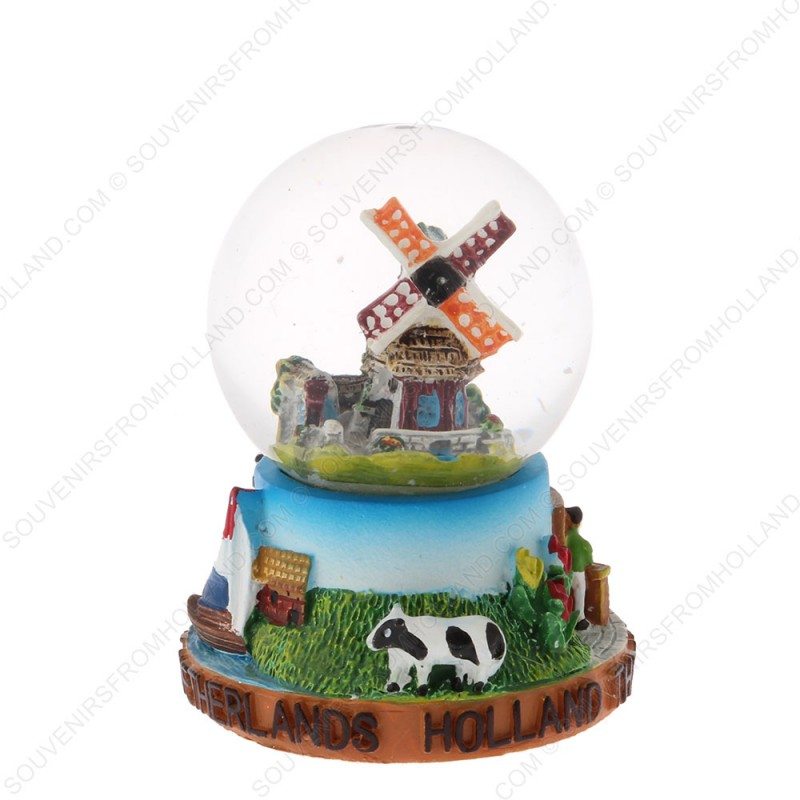 Holland Windmill Cow - Snow Globe 6.5 cm