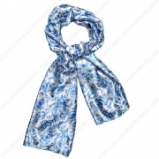 Delft Blue Satin Scarf