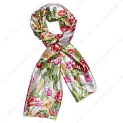 Tulpen Kleur Satijn Sjaal