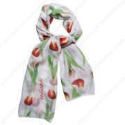 Tulip Orange Transparent Scarf