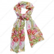 Tulip Multi Transparent Scarf