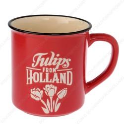 Red Camp Mug Holland Tulips 10cm