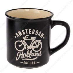 Black Camp Mug Amsterdam Bike 10cm