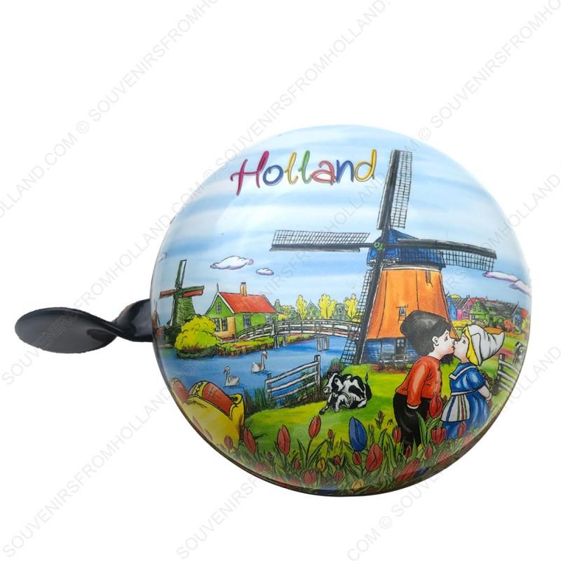 Ding Dong Fietsbel Groot.Fietsbel Holland Molen 8cm Fietsbellen Souvenirs From Holland