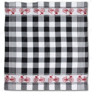 Bicycle Black Tea Towel - Dish Cloth 60x65cm