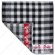 Fiets Zwart Handdoek 50x50cm
