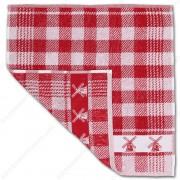 Molen Rood Handdoek 50x50cm