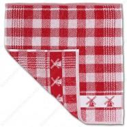 Windmill Red Kitchen Towel 50x50cm
