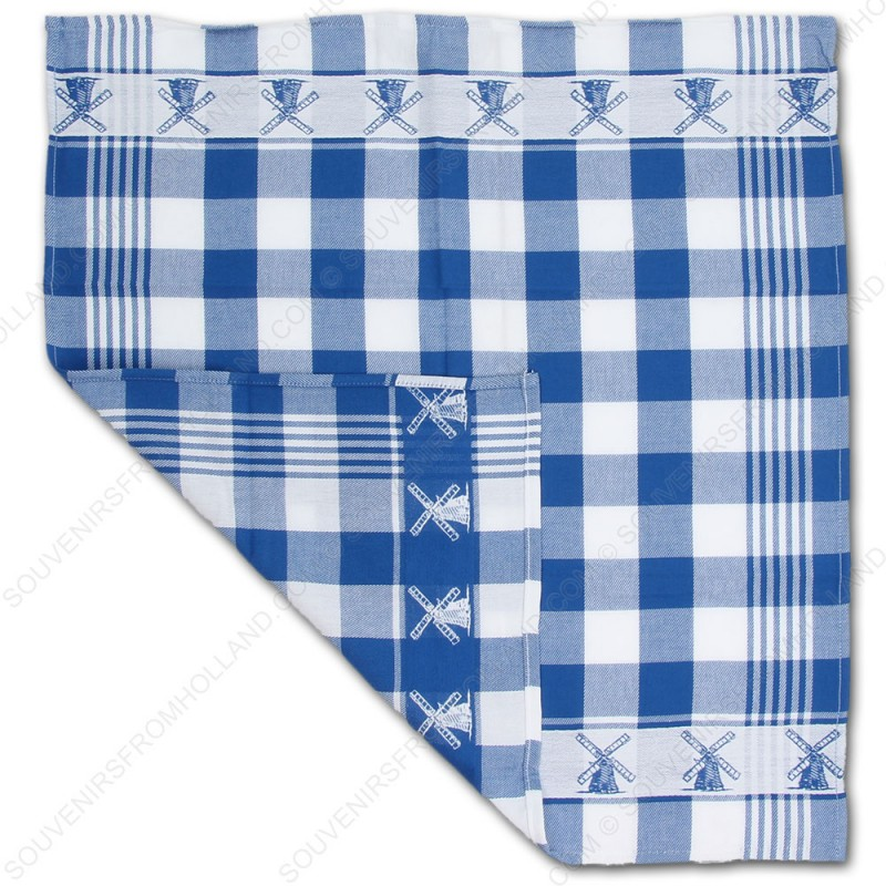 Windmill Blue Tea Towel Dish Cloth 60x65cm Kitchen Textiles Dishcloth Tea Towels Souvenirs From Holland