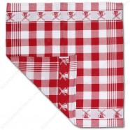 Windmill Red Tea Towel - Dish Cloth 60x65cm