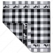 Cow Black Tea Towel - Dish...