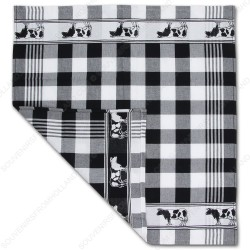 Cow Black Tea Towel - Dish Cloth 60x65cm
