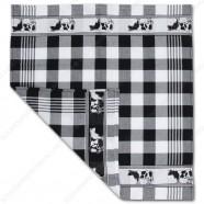 Cow Black Tea Towel - Dish...