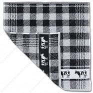 Koe Zwart Handdoek 50x50cm