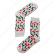 Sokken Tulpjes Grijs - Maat...