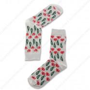 Sokken Tulpjes Grijs - Maat 35-41