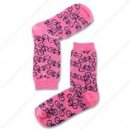 Socks Pink Bikes - Size 35-41