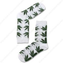 Sokken Cannabis Wit - Maat 40-46