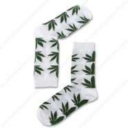 Socks White Cannabis - Size 40-46