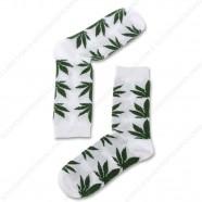 Socks White Cannabis - Size 35-41