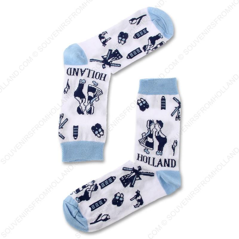 Socks Delft Blue Holland - Size 35-41