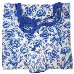 Delfts Blauw Tulpen - Boodschappentas 42,5cm