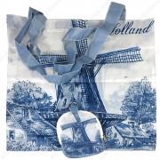 Delft Blue Windmill -...