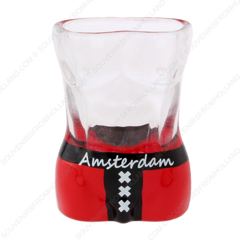 Male Torso Amsterdam Sign Shotglass - Shooter