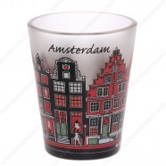Amsterdam Canal Houses frosted Shotglass - Shooter