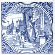 The Painter - Tile 15x15 cm