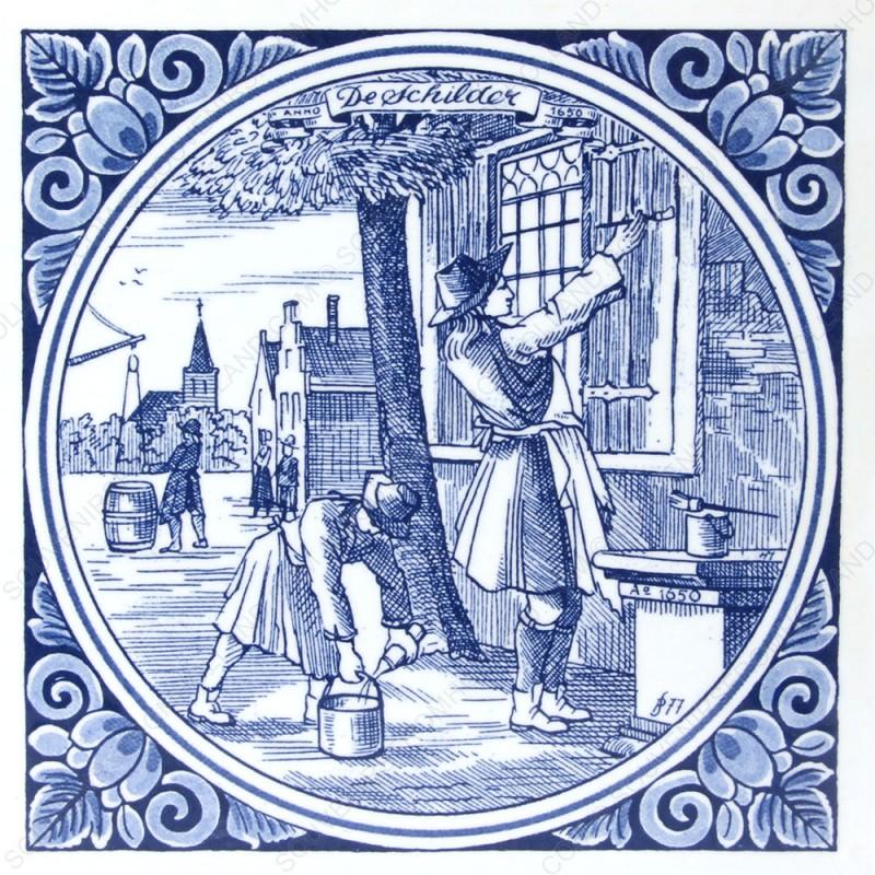 De Schilder - beroepentegel Jan Luyken - Delfts Blauw