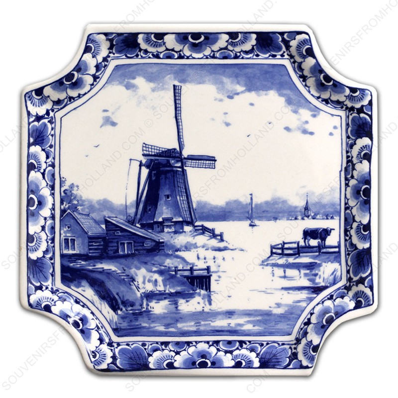 Applique Windmolen - Vierkant 19 x 19 cm