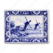Applique Holland Landscape Windmills - 15 x 12 cm