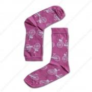 Sokken Fietsen Roze - Maat...