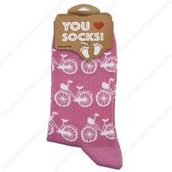 Socks Bikes Pink- Size 35-41