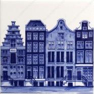 Grachten Amsterdam 1 - Tegel 13x13cm
