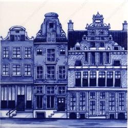 Amsterdam Canals 2 - Tile 13x13cm