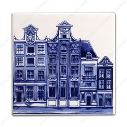 Amsterdam Canals 3 - Tile 13x13cm