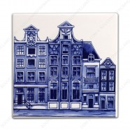 Grachten Amsterdam 3 - Tegel 13x13cm