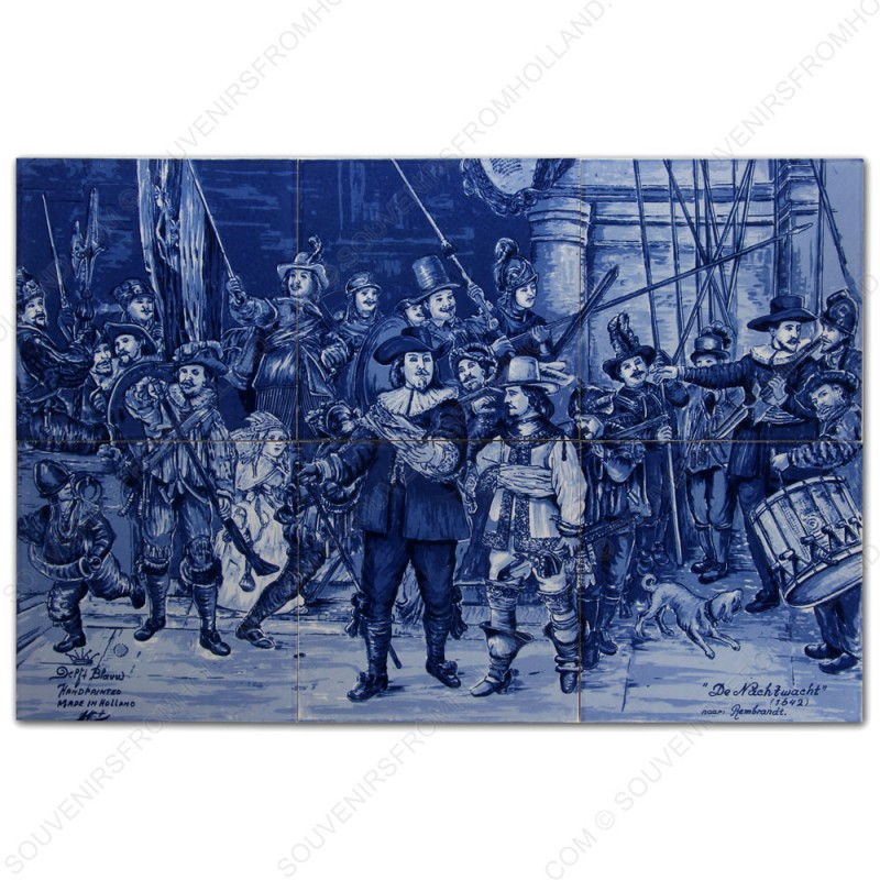 Night Watch Rembrandt - set of 6 tiles
